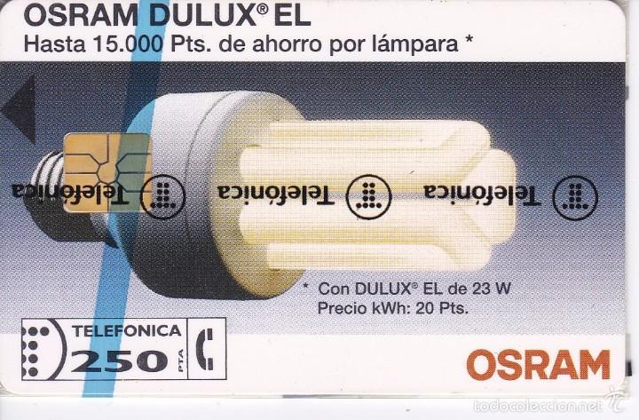 P-016 TARJETA DE ESPAÑA DE OSRAM DE TIRADA 6000 NUEVA (BOMBILLA) (Coleccionismo - Tarjetas Telefónicas)