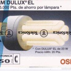 Tarjetas telefónicas de colección: P-016 TARJETA DE ESPAÑA DE OSRAM DE TIRADA 6000 NUEVA (BOMBILLA). Lote 56157441