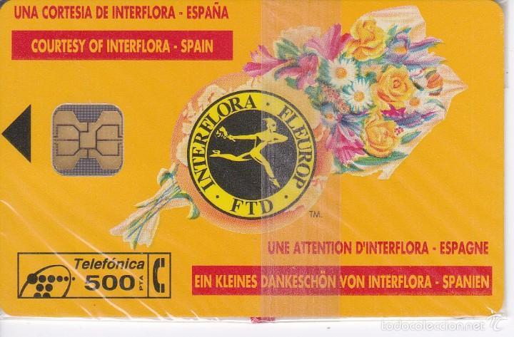 P-024 TARJETA DE ESPAÑA INTERFLORA DE TIRADA 2000 NUEVA (Coleccionismo - Tarjetas Telefónicas)