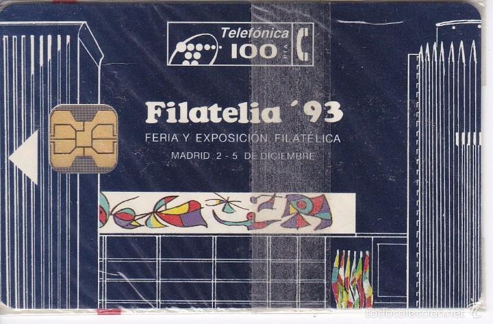P-026 TARJETA DE ESPAÑA FILATELIA´93 DE TIRADA 2000 NUEVA (SELLO-STAMP) (Coleccionismo - Tarjetas Telefónicas)