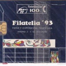 Tarjetas telefónicas de colección: P-026 TARJETA DE ESPAÑA FILATELIA´93 DE TIRADA 2000 NUEVA (SELLO-STAMP). Lote 56157506