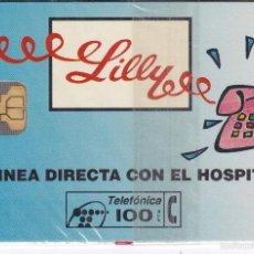 Tarjetas telefónicas de colección: P-036 TARJETA DE ESPAÑA DE LILLY DE TIRADA 7500 NUEVA CON BLISTER. Lote 56278494