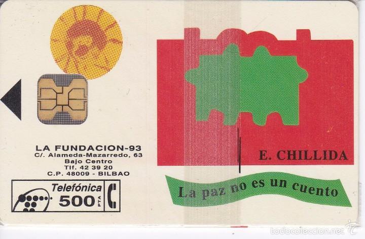 P-037 TARJETA DE ESPAÑA DE FUNDACION CHILLIDA DE TIRADA 2500 NUEVA CON BLISTER (Coleccionismo - Tarjetas Telefónicas)