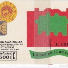 Tarjetas telefónicas de colección: P-037 TARJETA DE ESPAÑA DE FUNDACION CHILLIDA DE TIRADA 2500 NUEVA CON BLISTER. Lote 56278510