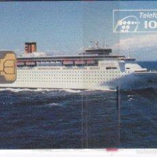 Tarjetas telefónicas de colección: P-047 TARJETA DE ESPAÑA DE COSTA CRUCEROS DE TIRADA 2500 (BARCO-SHIP) NUEVA CON BLISTER. Lote 56278629