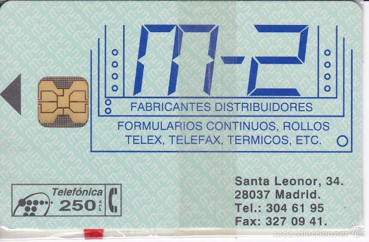 P-048 TARJETA DE ESPAÑA M-2 DE TIRADA 2500 NUEVA CON BLISTER (Coleccionismo - Tarjetas Telefónicas)