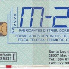 Tarjetas telefónicas de colección: P-048 TARJETA DE ESPAÑA M-2 DE TIRADA 2500 NUEVA CON BLISTER. Lote 56278645