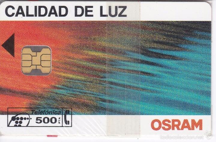 P-053 TARJETA DE ESPAÑA DE OSRAM DE TIRADA 8500 NUEVA CON BLISTER (Coleccionismo - Tarjetas Telefónicas)