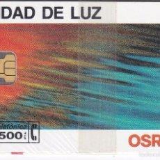 Tarjetas telefónicas de colección: P-053 TARJETA DE ESPAÑA DE OSRAM DE TIRADA 8500 NUEVA CON BLISTER. Lote 56278713