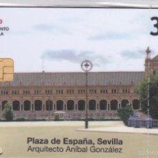 Tarjetas telefónicas de colección: P-605 TARJETA DE LA PLAZA DE ESPAÑA DE SEVILLA DE 3 EUROS Y FECHA DEL 04/10 (NUEVA-MINT). Lote 56957161