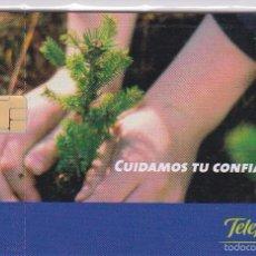 Tarjetas telefónicas de colección: P-600 TARJETA DE CUIDAMOS TU CONFIANZA DE 1 EURO Y FECHA DEL 01/09 (NUEVA-MINT). Lote 56957189