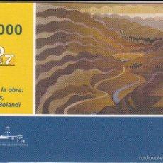 Tarjetas telefónicas de colección: COSTA RICA. 1000 COLONES. 02/2004. MUSEO DE ARTE CONTEMPORÁNEO. 'MONTAÑAS' DINORAH BOLANDI.. Lote 58349063