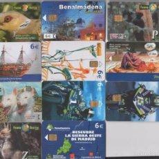 Tarjetas telefónicas de colección: LOTE 11 TARJETAS TELEFÓNICAS. Lote 58392059