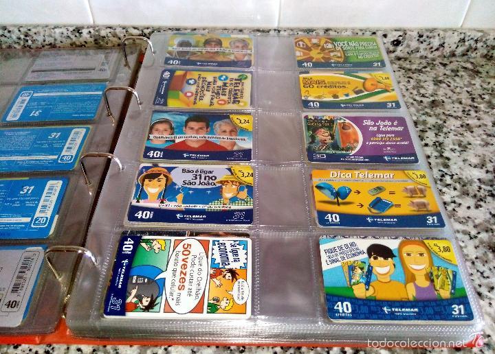 Tarjetas telefónicas de colección: Álbum con 500 Teletarjetas telefónicas de Brasil.Tarjetas usadas.Ver fotos - Foto 6 - 58514775