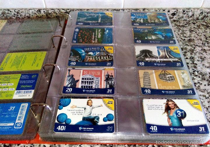 Tarjetas telefónicas de colección: Álbum con 500 Teletarjetas telefónicas de Brasil.Tarjetas usadas.Ver fotos - Foto 7 - 58514775