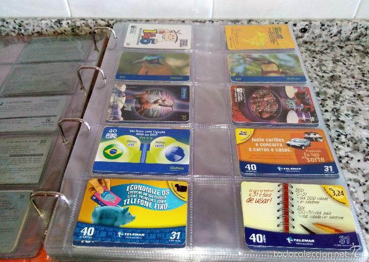 Tarjetas telefónicas de colección: Álbum con 500 Teletarjetas telefónicas de Brasil.Tarjetas usadas.Ver fotos - Foto 8 - 58514775