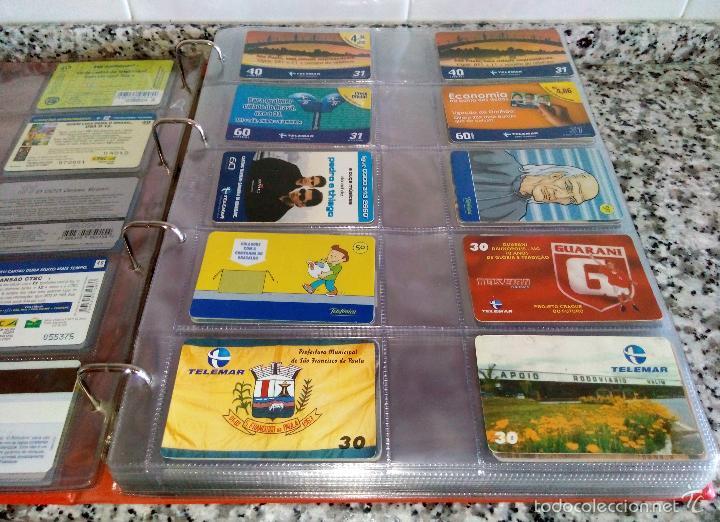 Tarjetas telefónicas de colección: Álbum con 500 Teletarjetas telefónicas de Brasil.Tarjetas usadas.Ver fotos - Foto 11 - 58514775