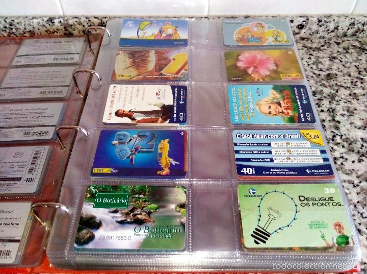 Tarjetas telefónicas de colección: Álbum con 500 Teletarjetas telefónicas de Brasil.Tarjetas usadas.Ver fotos - Foto 12 - 58514775
