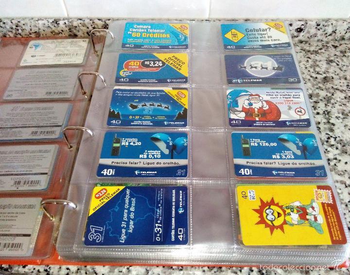 Tarjetas telefónicas de colección: Álbum con 500 Teletarjetas telefónicas de Brasil.Tarjetas usadas.Ver fotos - Foto 13 - 58514775