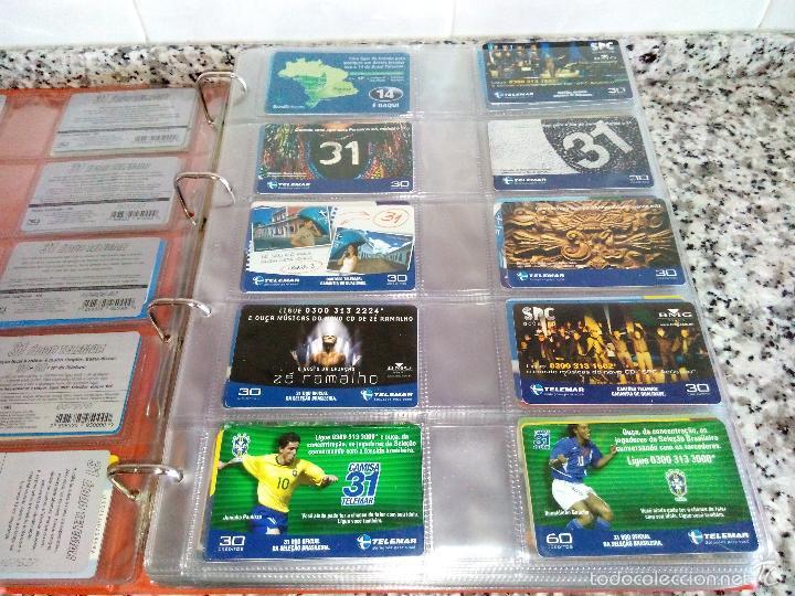 Tarjetas telefónicas de colección: Álbum con 500 Teletarjetas telefónicas de Brasil.Tarjetas usadas.Ver fotos - Foto 14 - 58514775