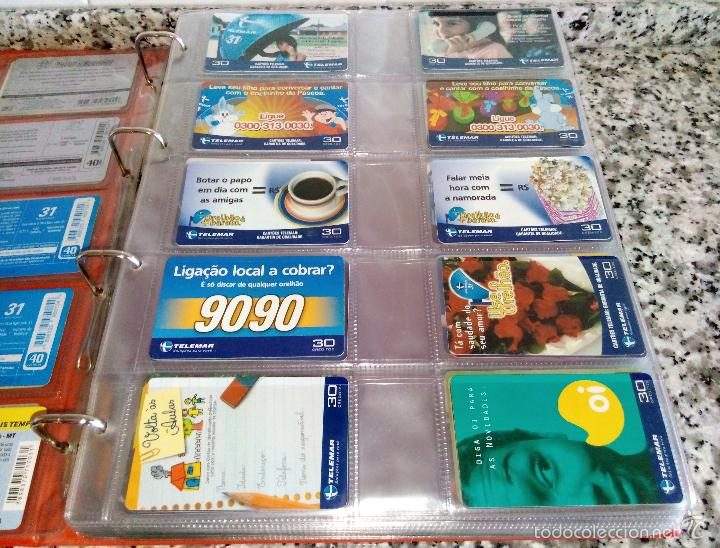 Tarjetas telefónicas de colección: Álbum con 500 Teletarjetas telefónicas de Brasil.Tarjetas usadas.Ver fotos - Foto 15 - 58514775