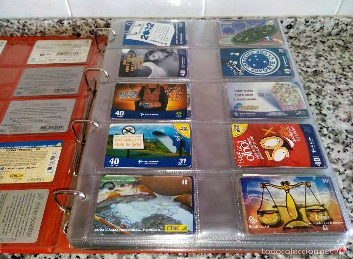 Tarjetas telefónicas de colección: Álbum con 500 Teletarjetas telefónicas de Brasil.Tarjetas usadas.Ver fotos - Foto 16 - 58514775
