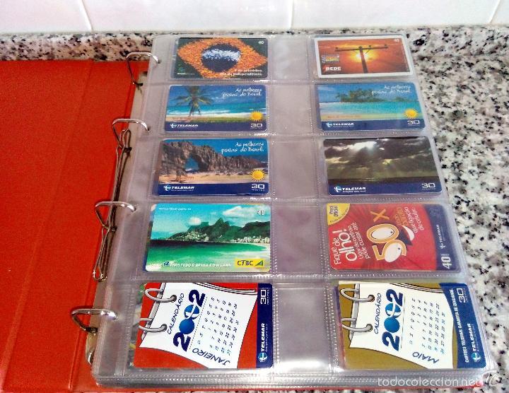 Tarjetas telefónicas de colección: Álbum con 500 Teletarjetas telefónicas de Brasil.Tarjetas usadas.Ver fotos - Foto 17 - 58514775