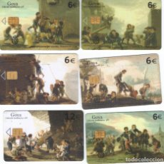 Cartões de telefone de coleção: ESPAÑA TT COLECCION GOYA TARJETAS TELEFONICAS LAS 6 TARJETAS. Lote 62802139
