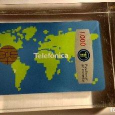 Tarjetas telefónicas de colección: PISAPAPELES TARJETA TELEFONICA. Lote 64736315