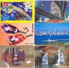 Tarjetas telefónicas de colección: LOTE DE 6 TARJETAS TELEFÓNICAS JAPONESAS.. Lote 64892655