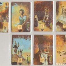 Tarjetas telefónicas de colección: TARJETAS TELEFÓNICAS. SERIE MIGUEL DE CERVANTES 450 ANIVERSARIO. NUEVAS.. Lote 70232561