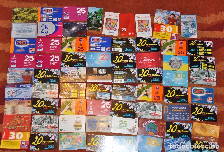 LOTE DE 50 TARJETAS TELEFÓNICAS DE UCRANIA (Coleccionismo - Tarjetas Telefónicas)