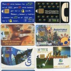 Tarjetas telefónicas de colección: LOTE SIETE TARJETAS TELEFÓNICAS ANTIGUAS, VER IMAGEN. Lote 72764391