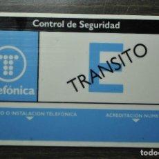 Tarjetas telefónicas de colección: TARJETA CONTROL DE SEGURIDAD DE TRÁNSITO - TELEFÓNICA 1990. Lote 76890799