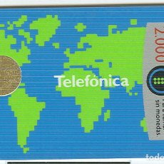 Cartes Téléphoniques de collection: TARJETA TELEFONICA PHONECARD ESPAÑA - B-15/2 MAPAMUNDI - 2000 PTAS - 03/89. Lote 76937565