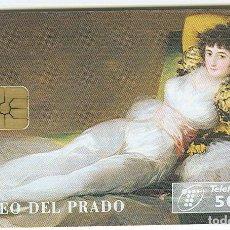 Cartes Téléphoniques de collection: TARJETA TELEFONICA PHONECARD ESPAÑA - P 147 - LA MAJA VESTIDA- 500 PTAS - 09/95. Lote 77165417