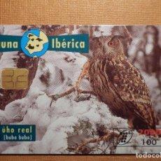Cartes Téléphoniques de collection: TARJETA TELEFÓNICA USADA - FAUNA IBÉRICA - BUHO REAL - 0596 - AÑO 1996 - TIRADA 1.000.000. Lote 78782853