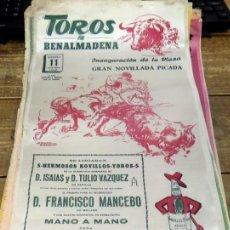 Tarjetas telefónicas de colección: BENALMADENA, 1968, CARTEL TOROS EN SEDA, INAUGURACION DE LA PLAZA, 23X50 CMS. Lote 80276589