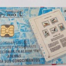 Tarjetas telefónicas de colección: TARJETA TELEFÓNICA DE 100 PTA ÁLBUM FM. FILATELIA MARTÍNEZ OVIEDO. SIN ABRIR CON BLISTER. Lote 85832916
