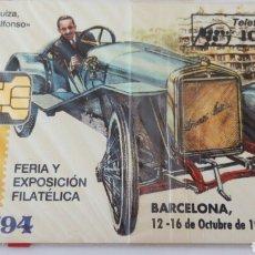 Tarjetas telefónicas de colección: TARJETA TELEFÓNICA DE 100 PTA FILABARBA 94. HISPANO SUIZA MODELO ALFONSO 1913. MONASTERIO MONTSERRAT. Lote 85834283