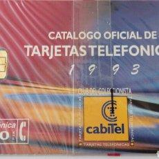 Tarjetas telefónicas de colección: TARJETA TELEFÓNICA DE 100 PTA. CABITEL CLUB DEL COLECCIONISTA. CATÁLOGO OFICIAL 1993. CON BLISTER.. Lote 87020014
