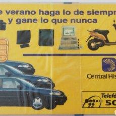 Tarjetas telefónicas de colección: TARJETA TELEFÓNICA DE 500 PTS. PUBLICIDAD CENTRAL HISPANO. VERANO 1994. CON BLISTER . Lote 87020312