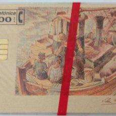Tarjetas telefónicas de colección: TARJETA TELEFÓNICA DE 100 PTS. COLECCIONE ARTE 2. VILA MONCAU LA PESCA 1953. CON BLISTER. Lote 87020640