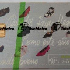 Tarjetas telefónicas de colección: TARJETA TELEFÓNICA DE 800 PTS. QUERIDOS REYES MAGOS. ZAPATOS. FELIZ 95. CON BLISTER. Lote 87021268