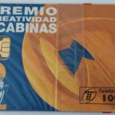 Tarjetas telefónicas de colección: TARJETA TELEFÓNICA DE 100 PTA. PREMIO CREATIVIDAD EN CABINAS. FIN DE FIESTA. CON BLISTER. Lote 87021602
