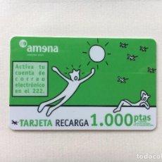 Tarjetas telefónicas de colección: TARJETA DE RECARGA AMENA RETEVISIÓN 1000 PESETAS CADUCA 31/01/2002. Lote 91433545