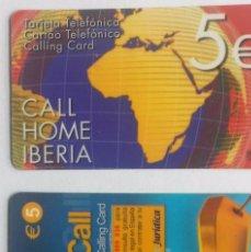 Tarjetas telefónicas de colección: 2 TARJETAS TELEFÓNICA CALL HOME . Lote 96021843