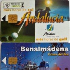 Tarjetas telefónicas de colección: 2 TARJETAS TELEFÓNICA ANDALUCIA Y BENALMADEA . Lote 96022587