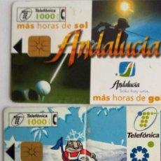 Tarjetas telefónicas de colección: 2 TARJETAS TELEFÓNICA ANDALUCIA Y SIERRA NEVADA . Lote 96022687