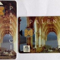 Tarjetas telefónicas de colección: 2 TARJETAS TELEFÓNICA PALENCIA . Lote 96023543
